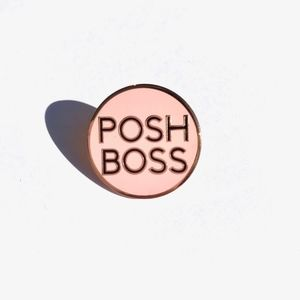 "POSH BOSS PIN 1"" ROSE GOLD LIMITED EDITION ART NWT"